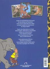 Tintin Et Les Animaux - 4ème de couverture - Format classique