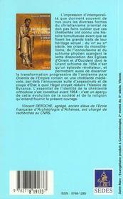 Entre Rome Et L'Islam - Les Chretientes D'Orient 610-1054 - 4ème de couverture - Format classique