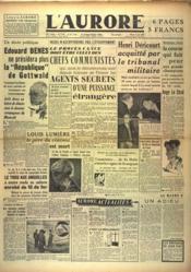 Aurore (L') N°1161 du 08/06/1948 - Couverture - Format classique
