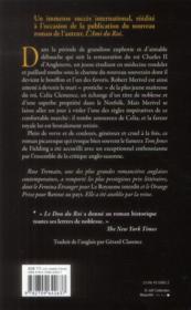 Le don du roi - 4ème de couverture - Format classique