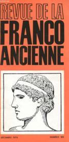 Revue De La Franco Ancienne N°185 - Couverture - Format classique