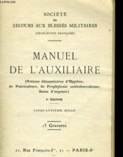 Manuel De L'Auxiliaire - Couverture - Format classique