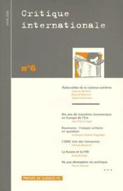 Revue Critique Internationale N.6 - Couverture - Format classique