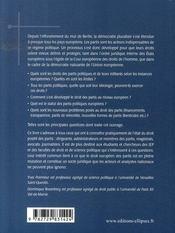 Droit européen des partis politiques - 4ème de couverture - Format classique