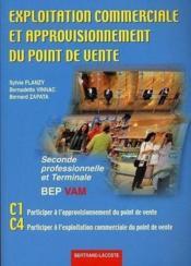 Exploitation commerciale et approvisionnement du point de vente ; bep vam - Couverture - Format classique
