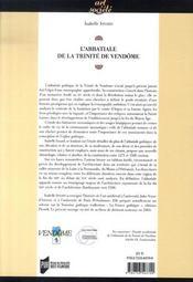 L'abbatiale de la trinité de vendôme - 4ème de couverture - Format classique