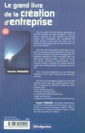 Le grand livre de la création d'entreprise (édition 2007-2008) - 4ème de couverture - Format classique