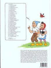 Sylvain et Sylvette t.3 ; le lance pierre - 4ème de couverture - Format classique