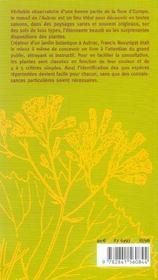 Fleurs Et Paysages D'Aubrac - 4ème de couverture - Format classique