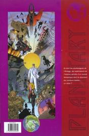 Planetary T.1 ; Terra Incognita - 4ème de couverture - Format classique