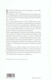 Algeriennes entre islam et islamismes - 4ème de couverture - Format classique
