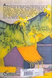 Furukombe et autres contes de mayotte - 4ème de couverture - Format classique