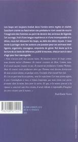 Le Genie Des Loups - 4ème de couverture - Format classique