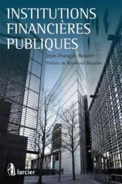 Institutions financières publiques - Couverture - Format classique