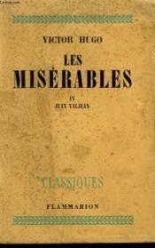 Les Miserables. Tome 4 : Jean Valjean. - Couverture - Format classique