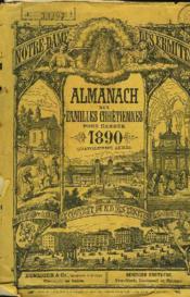 ALMANACH DES FAMILLES CHRETIENNES POUR L'ANNEE 1890. (14e ANNEE) - Couverture - Format classique