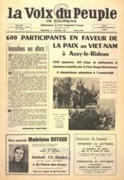 Voix Du Peuple De Touraine (La) N°1263 du 10/10/1965 - Couverture - Format classique