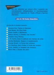 Étude sur Oedipe roi - 4ème de couverture - Format classique