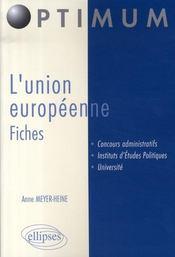 L'union européenne ; fiches - Intérieur - Format classique