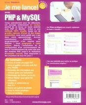 Je me lance avec php & mysql ; l'ouvrage 100% debutant pour s'initier aux langages php et mysql ! - 4ème de couverture - Format classique