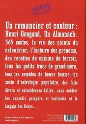 L'almanach - 4ème de couverture - Format classique