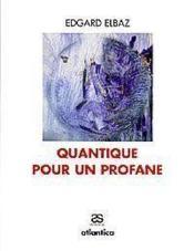 Quantique pour un profane - Couverture - Format classique