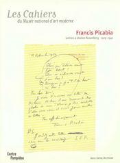 Francis Picabia ; lettres a Leonce Rosenberg 1929-1940 - Intérieur - Format classique