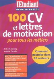 100 Cv Et Lettres De Motivation Pour Tous Les Secteurs - Intérieur - Format classique