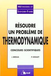 Resoudre un probleme de thermodynamique - Intérieur - Format classique
