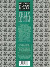 Chefs d'oeuvre BD populaire t.4 ; Félix le chat - 4ème de couverture - Format classique