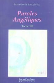 Paroles Angeliques Tome 3 - Intérieur - Format classique