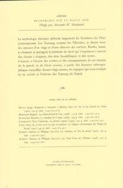 Les Enfants Du Singe Et De La Demone. Memoires Des Tamang, Recits Him Alayens - 4ème de couverture - Format classique
