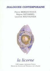 Revue La Licorne ; Dialogues Contemporains - Intérieur - Format classique