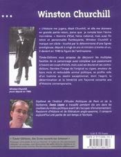 Winston churchill - 4ème de couverture - Format classique