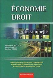 Economie et droit ; 1e professionnelle - Couverture - Format classique