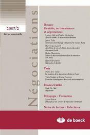 Revue Negociations T.8 ; 2007/2 - Intérieur - Format classique