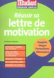 Reussir Sa Lettre De Motivation - Intérieur - Format classique