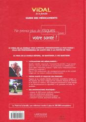 Vidal De La Famille 2002 ; Guides Des Medicaments ; 7e Edition - 4ème de couverture - Format classique