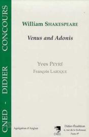 William Shakespeare-Venus And Adonis - Couverture - Format classique