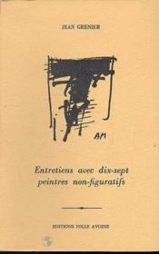 Entretiens Avec 17 Peintres Non Figur. - Couverture - Format classique