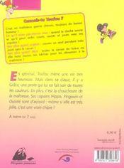 Toufou, une vraie chipie - 4ème de couverture - Format classique