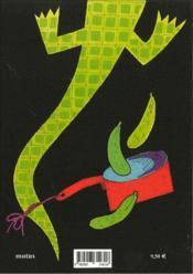 Crocodile et cornichons - 4ème de couverture - Format classique