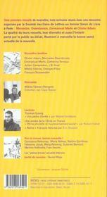 Revue Breves N.72 ; Mercedes Deambrosis - 4ème de couverture - Format classique