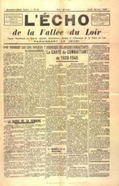 Echo De La Vallee Du Loir (L') N°60 du 10/06/1948 - Couverture - Format classique