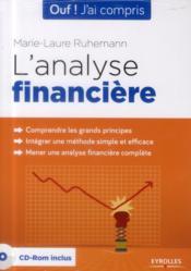 L'analyse financière - Couverture - Format classique