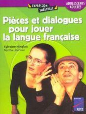 Pièces et dialogues pour jouer la langue française - Intérieur - Format classique
