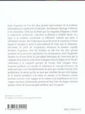 Lire Saint Augustin Les Confessions De Trinitate La Cite De Dieu - 4ème de couverture - Format classique
