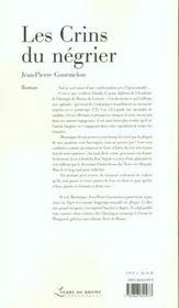 Les crins du negrier - 4ème de couverture - Format classique