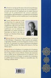 Livre Du Diagnostic Oriental - 4ème de couverture - Format classique