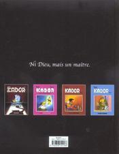 Kador ; L'Intégrale - 4ème de couverture - Format classique